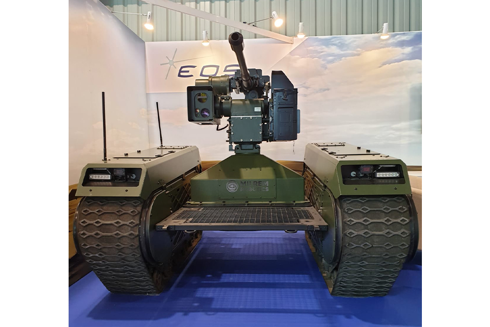 THeMIS UGV equipped with an EOS R400S-Mk2 RWS