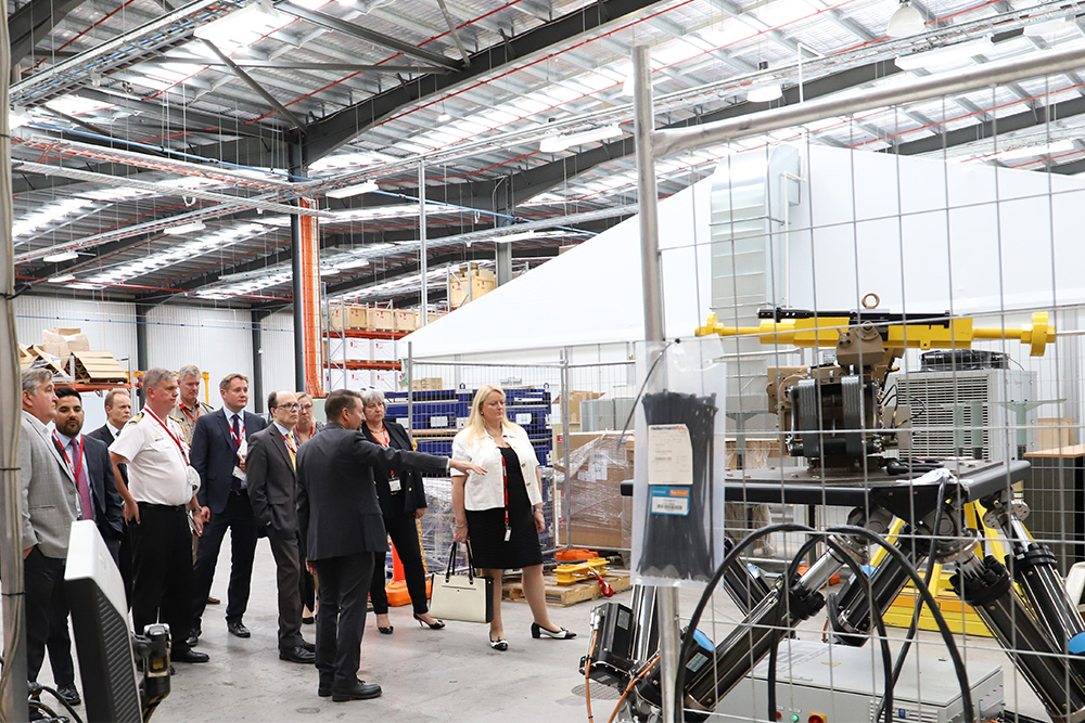 UK Delegation Group Tour of EOS ACT Manufacturing facility