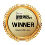 James Bennett crowned Scientist of the Year in the 2020 Space Connect Australian Space Industry Awards.